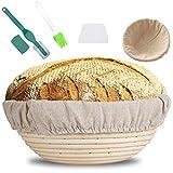 MOOING Gärkörbchen rund, 25 cm Proof Korb für Brot und...