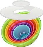 Kigima Schüsselset Rainbow 8-teilig Salatschüssel,...