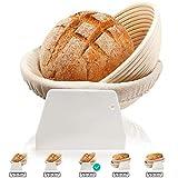 Gärkorb Runder Ovaler Satz mit 2, 2 Hefekörben für Brot...