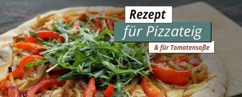 Rezept für eine knusprige Pizza & Pizzasoße