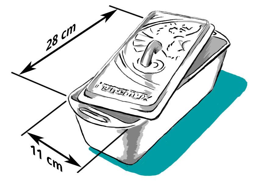 Petromax K4 Kastenform zum Brot backen