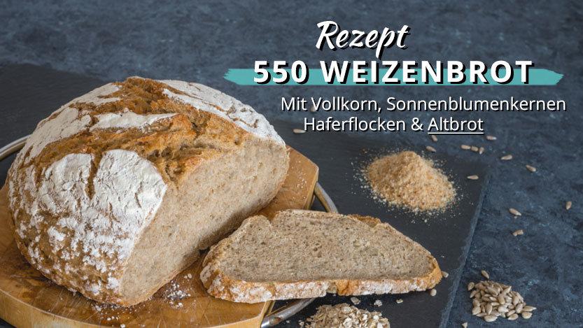 Weizen- Weizenvollkorn mit Hafer und Altbrot